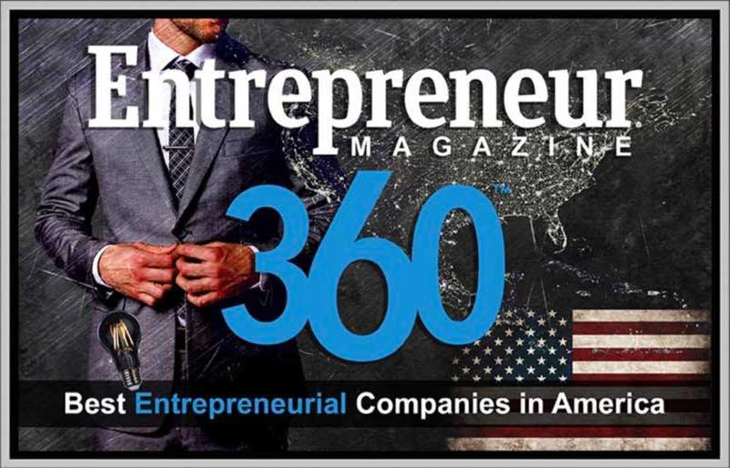 Entrepreneur Magazine 360 Article - Best Entrepreneurial Companies in America